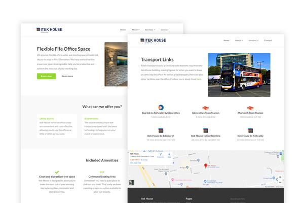 Itek House Managed Website